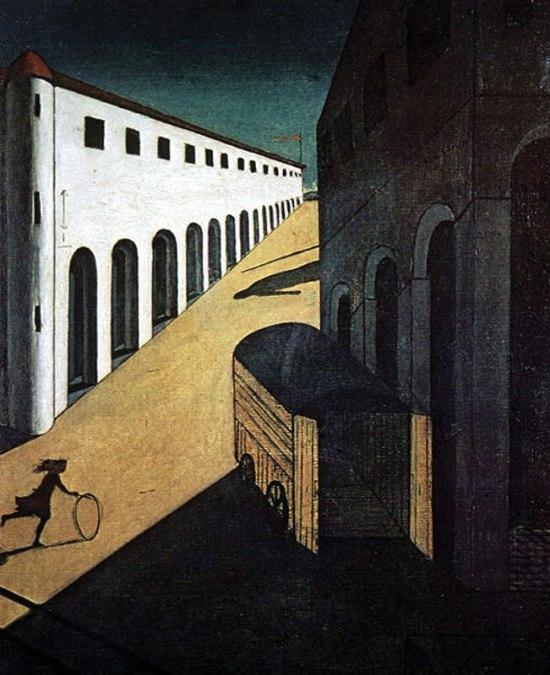 1913_Georgio-de-Chirico_Melancholy-of-the-Street-800_c