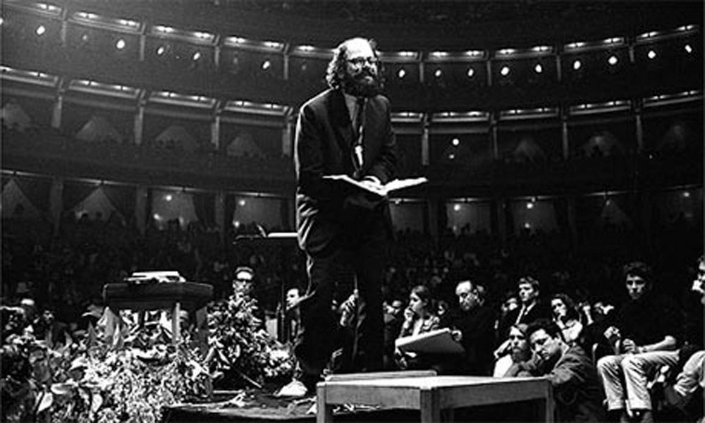 Tom McGrath, John (Hoppy) Hopkins, Allen Ginsberg etc: The International Poetry Reincarnation, Albert Hall, 1965