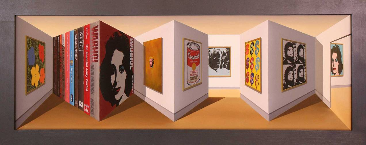 Patrick Hughes: Reverspective paintings 1964-present