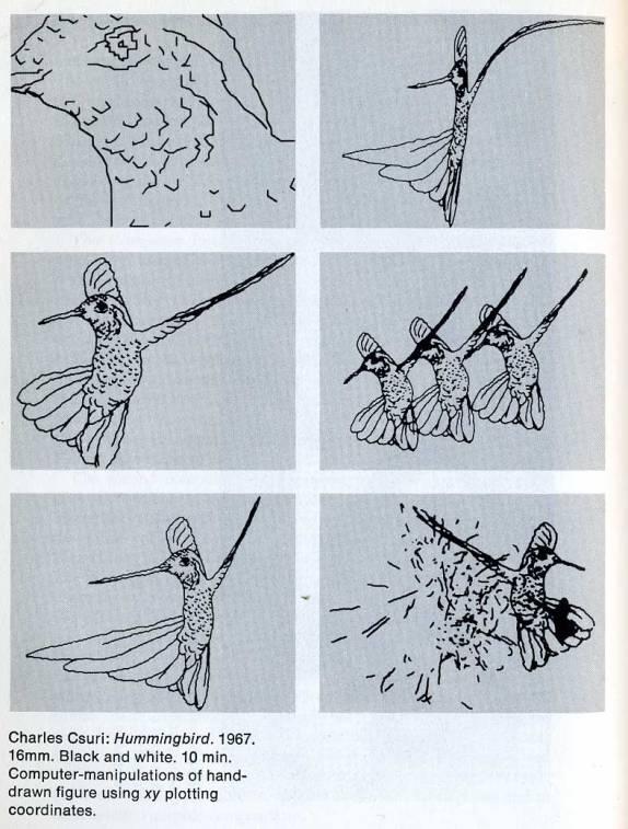 1967_Csuri_humming-bird_2d-transform_c